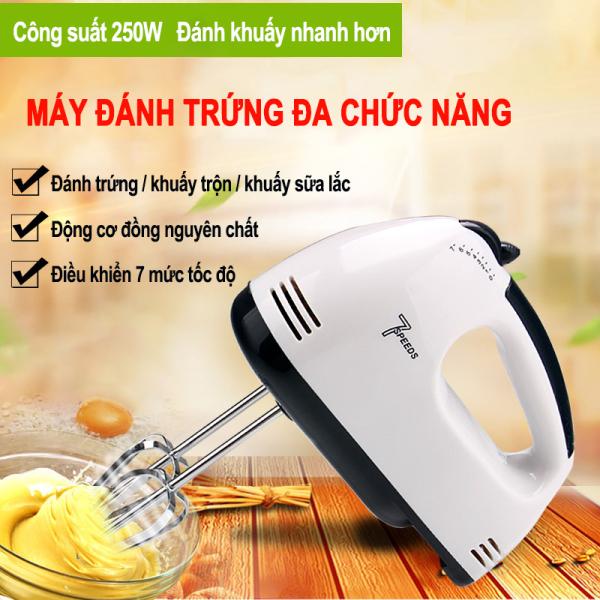 Máy đánh trứng tự động mini Máy đánh kem trứng Dụng cụ làm bánh - Đánh khuấy nhanh, động cơ lõi đồng, điều chỉnh được 7 mức độ