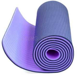 Thảm tập Yoga Gym TPE 2 LỚP Cao Su Non Dày, Êm Chống Trơn Trượt + Tặng Túi Đựng Tiện Dụng 7