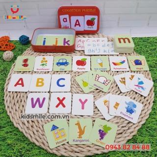 Hộp thẻ học thông minh Flashcard Tiếng Anh chủ đề chữ cái và từ vựng, kích thích phát triển trí não và tư duy ngôn ngữ cho bé từ 2 đến 6 tuổi thumbnail