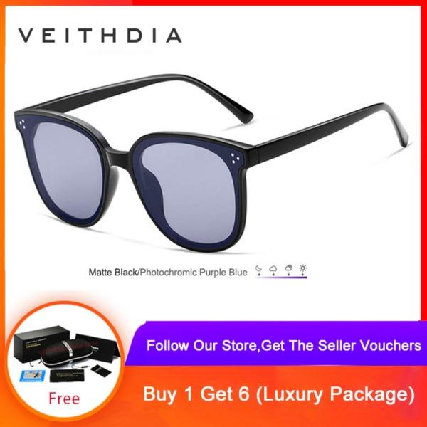 Giá bán VEITHDIA Unisex Sunglasses Polarized Photochromic Lens Vintage Sun Glasses For Men/Women 8510