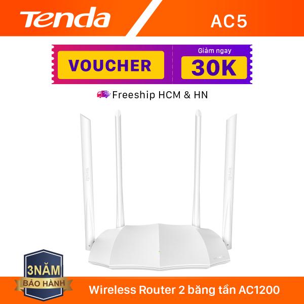 Tenda Thiết bị phát Wifi AC5 Chuẩn AC 1200Mbps - Hãng phân phối chính thức