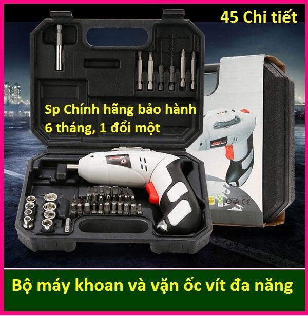 (Bảo hành 6 tháng, 1 đổi 1) Bộ máy khoan và vặn ốc vít đa năng có sạc tích điện Joust Max (Trắng) -Khoan băn vit không dây - dùng pin 4.8V, máy khoan, bắn vit, máy khoan cầm tay, may khoan pin