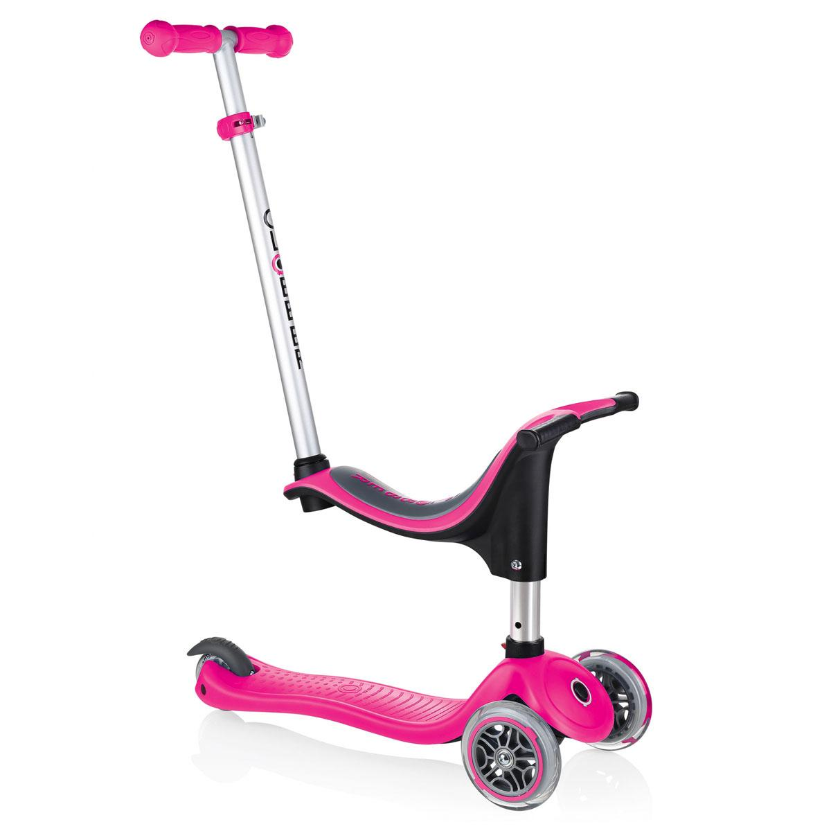 Xe trượt scooter Globber My Free Seat 4 in 1 (EVO 4 in 1) - Hồng