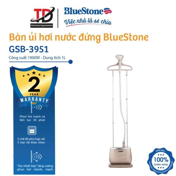 Bàn ủi hơi nước đứng BlueStone GSB-3951 Công suất bàn ủi lớn 1900 W gia nhiệt nhanh trong 40 giây