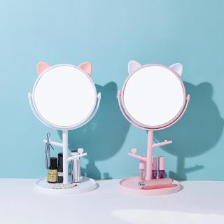 Gương trang điểm để bàn thiết kế tinh tế bền bỉ có thể xoay được thumbnail