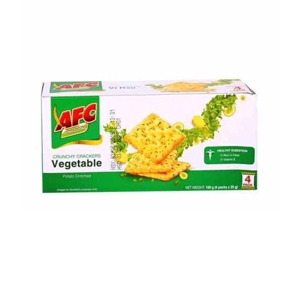 Bánh cracker AFC dinh dưỡng vị rau hộp 200g