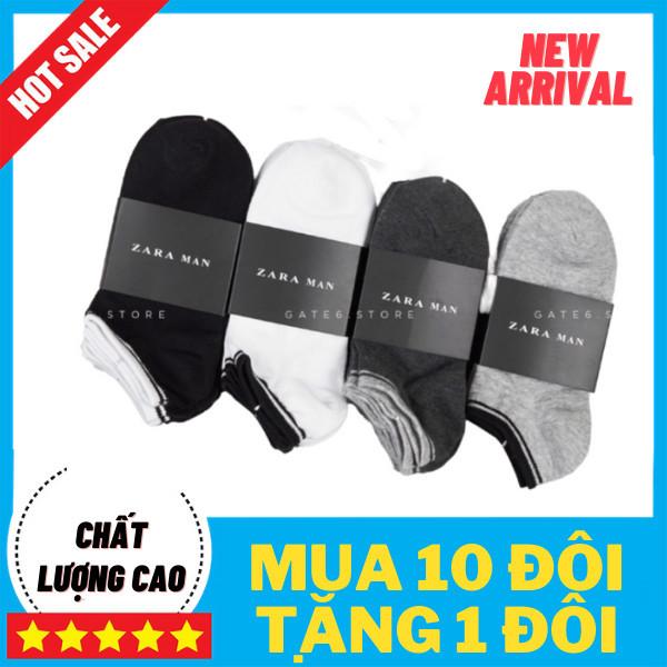 [TẶNG 1 ĐÔI] Bộ 10 đôi tất zara man 100% cotton