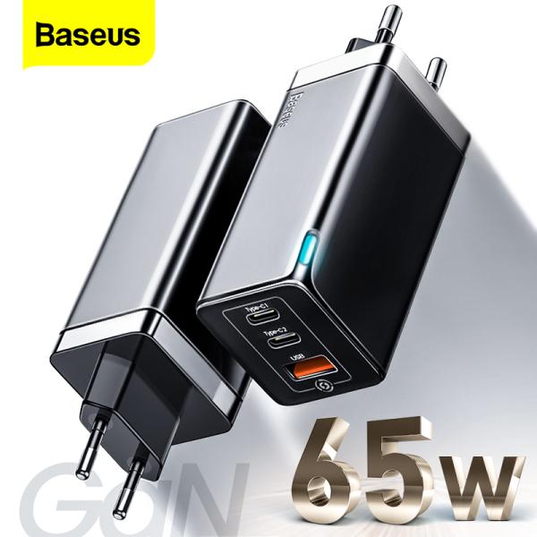 [GIÁ SỐC] Cốc sạc nhanh BASEUS EU GaN 65W/ GaN2 Pro 4.0 3.0 AFC SCP USB PD dành cho Macbook Pro iPad iPhone 12 11Pro Max Samsung HUAWEI