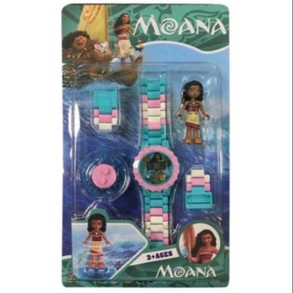 Nơi bán [Siêu Sale - Xả kho] - Đồng hồ Lego lắp ráp có hình nhân vật xoay trên mặt đồng hồ dành cho bé gái