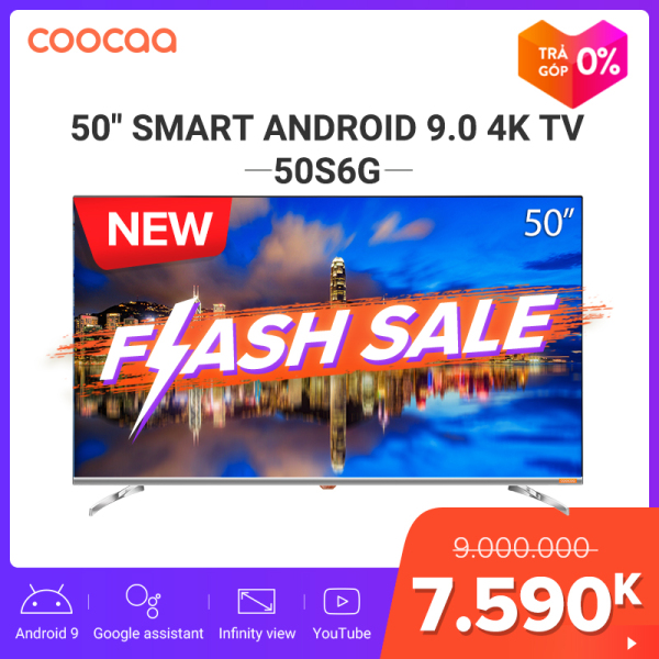 Bảng giá [SẢN PHẨM MỚI] SMART TV 4K UHD Coocaa 50 inch - Android 9.0 TV- Wifi - viền mỏng - Model 50S6G - tivi giá rẻ Chân viền kim loại Điện máy Pico