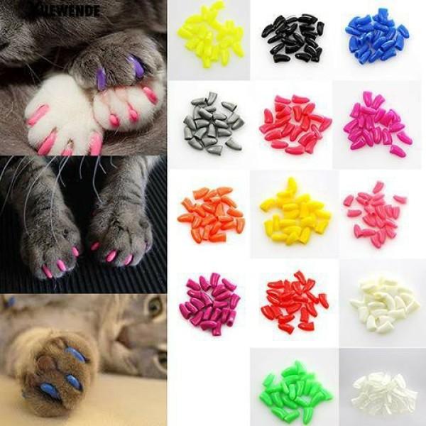 Bộ 20 bịt móng cho mèo - chất liệu silicon mềm nhiều kích thước, sản phẩm tốt, chất lượng cao, cam kết như hình