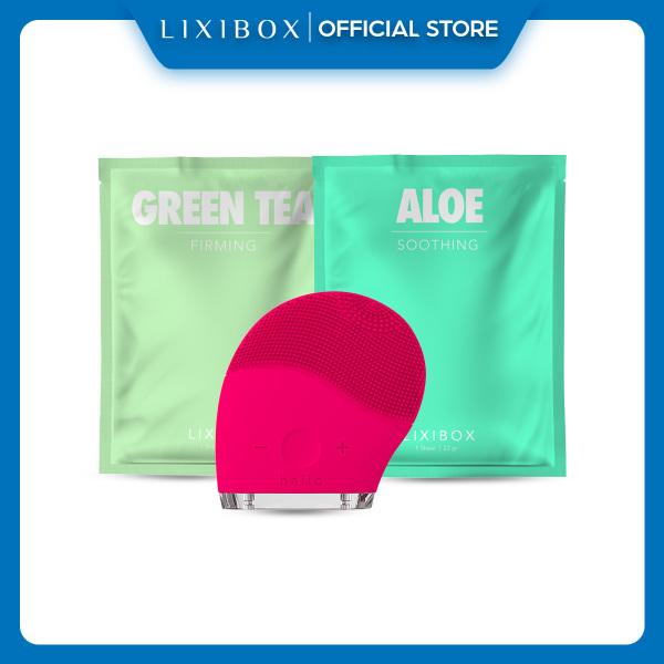 Mua Máy Rửa Mặt Và Mát Xa Da Mặt Halio Tặng 2 Mặt Nạ Lixibox Aloe Và Green Tea