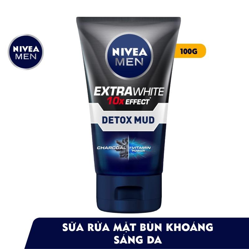 Sữa Rửa Mặt Cho Nam Nivea Men Sáng Da Và Kiểm Soát Nhờn 100g Extra White Oil Control Mud Foam giá rẻ