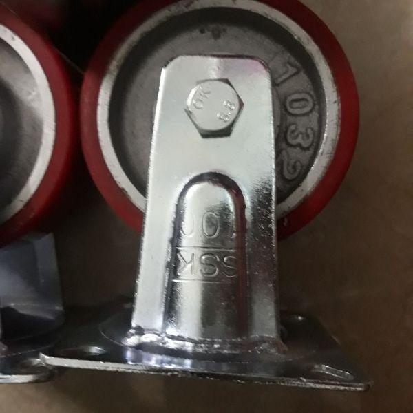 Bộ 4 Bánh xe đẩy cố đinh 100×32 pu gang