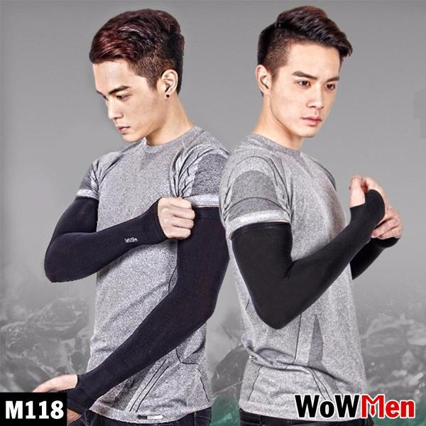 Bộ 2 Ống Tay / Găng Tay Thun Dài Thể Thao Chống Nắng Đi Phượt Xỏ Ngón Let's Slim