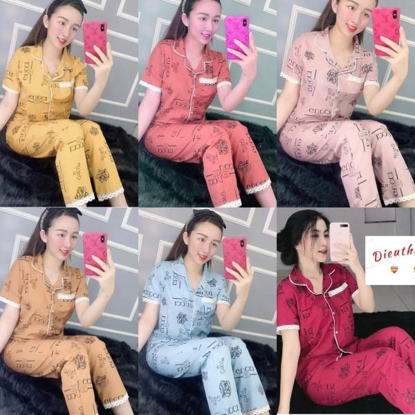 Đồ Bộ Pijama Kate Lụa Mẫu Hình + Chữ Siêu Đẹp Dưới 58kg