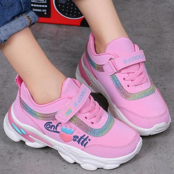 Giá bán giây thể thao sneaker bé gái 4 đến15 tuổi - TSS10
