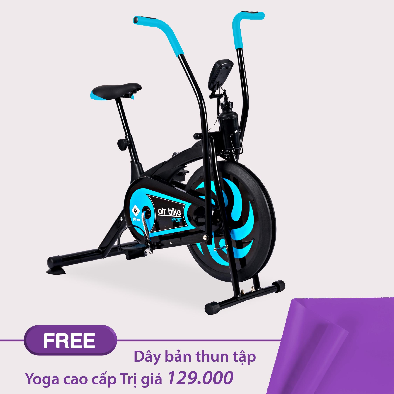 Bảng giá GYM19 - Xe đạp tập thể dục Air bike 8701 Mẫu Mới  Tặng kèm 1 dây thun bản cao cấp màu ngẫu nhiên tập Gym Yoga cao cấp Thái Lan