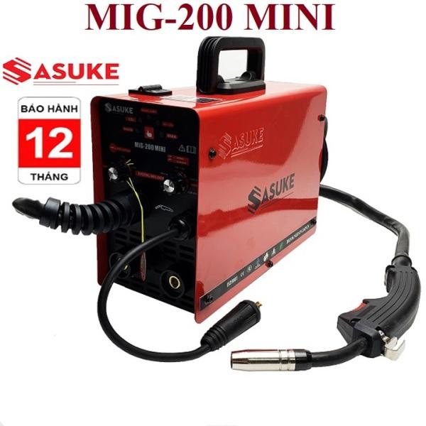 Máy hàn điện tử Inverter MIG 200 MINI - Thương Hiệu SASUKE Nhật Bản, bảo hành 12 tháng