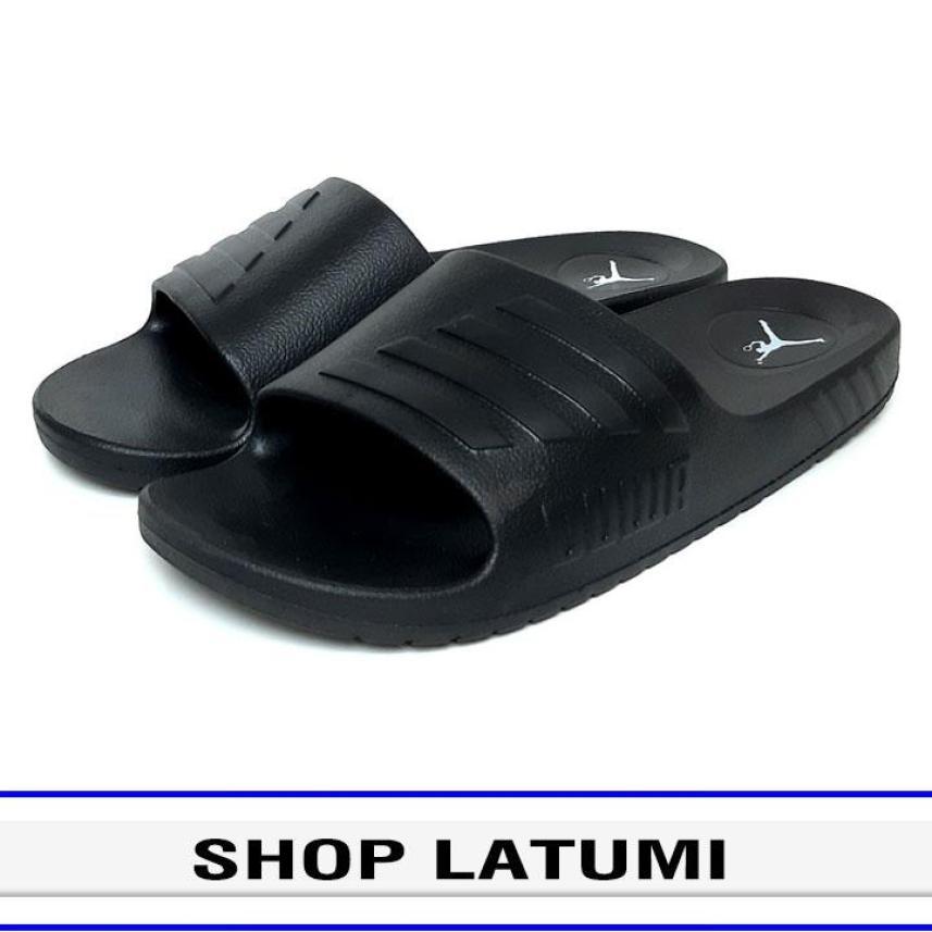 Dép quai ngang Nam Nữ thời trang cao cấp Latumi TA2502 (Đen) giá rẻ