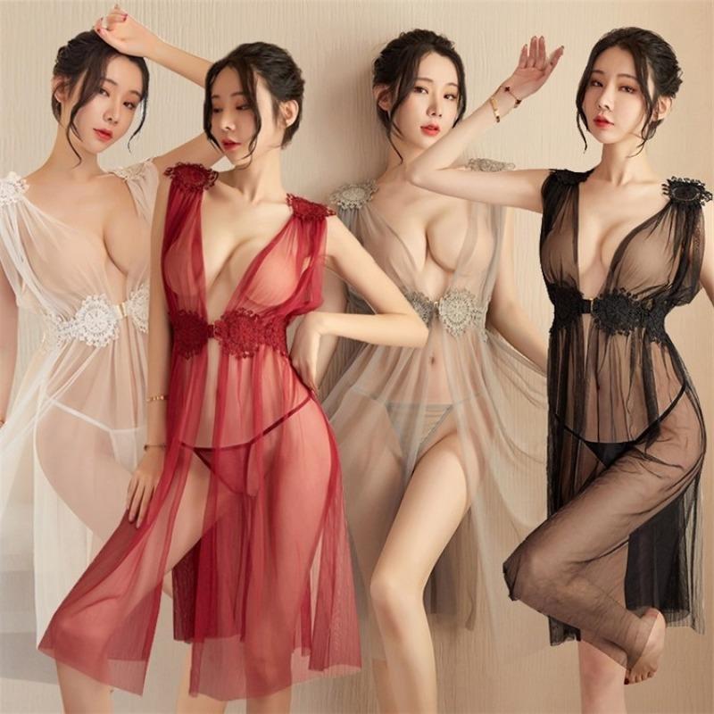 Nơi bán Váy Ngủ Xẻ Tà Xuyên Thấu Nữ Hoàng 5109 Siêu Gợi Cảm + Kèm Quần chíp