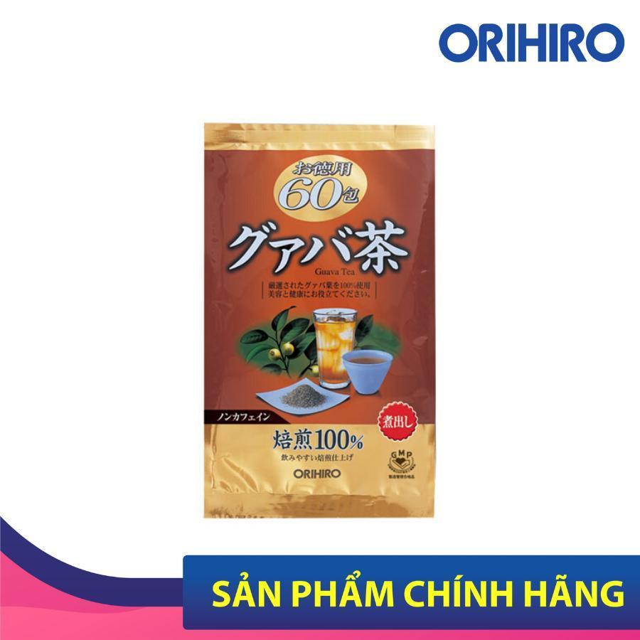 Trà ổi Guava Tea Orihiro Nhật Bản hỗ trợ giảm cân, giúp làm ấm cơ thể, ngủ ngon, 60 gói/túi cao cấp