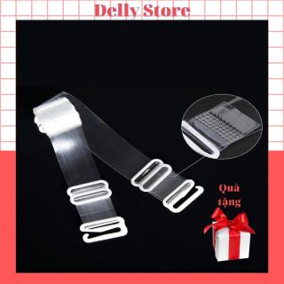 Dây áo ngưc trong suốt sợi dẹt tiện lợi Delly store cho nữ siêu dai thumbnail