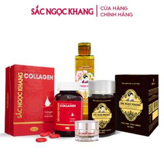 Combo Collagen+ Viên Uống Sắc Ngọc Khang ++ + Nước Hoa Hồng + Kem Dưỡng Da Ban Đêm 10g thumbnail