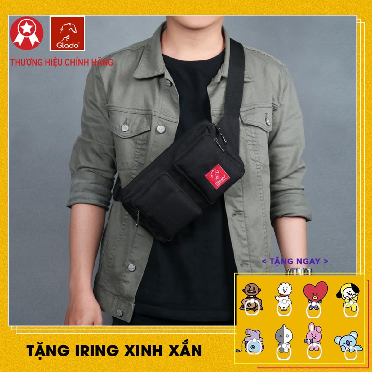 Túi Bao Tử đeo Chéo Thời Trang Nam Glado Express GEX001 Chất Liệu Vải 600D Trượt Nước Chống Thấm Tốt Đang Ưu Đãi Giá