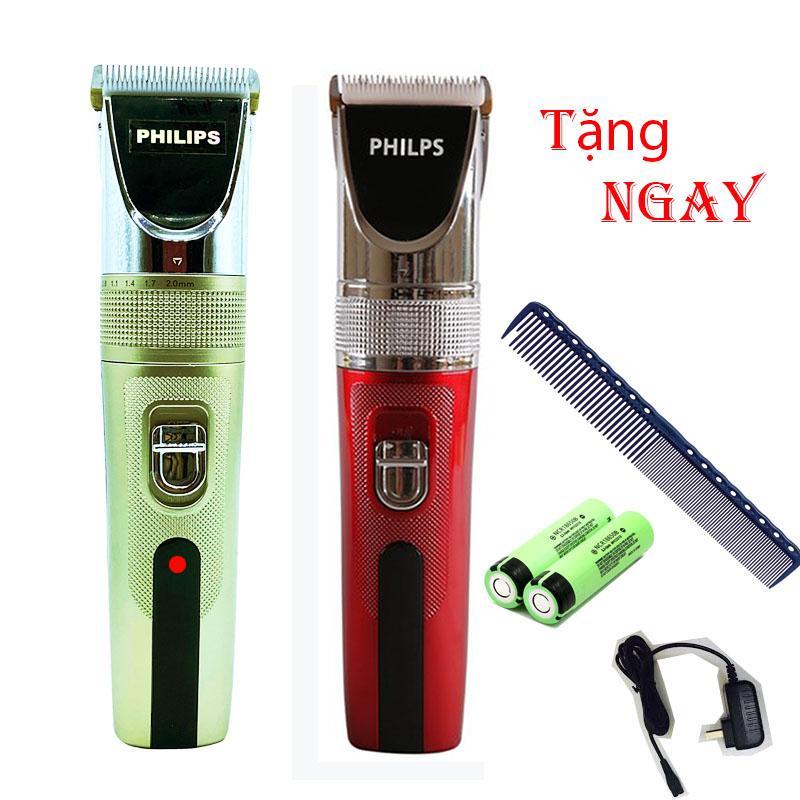 { BẢO HÀNH} Tông Đơ Cắt Tóc Lưỡi sứ Cao Cấp - Tặng 2 pin dự phòng sử dụng cho salon và gia đình PHILPS - T10 PRO, Tông đơ cắt tóc trẻ em, philips chuyên nghiệp