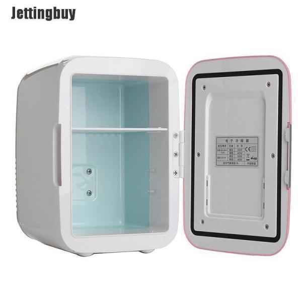 Jettingbuy Máy Làm Mát 4L Tủ Lạnh Du Lịch Tủ Lạnh Điện 12V/220V Gia Dụng Xe Hơi, Màu Hồng