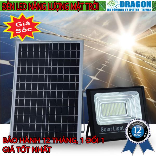 Đèn pha led năng lượng mặt trời công suất 200w, kèm tấm pin rời, có remote, có cảm biến tự động, dây nối 5m