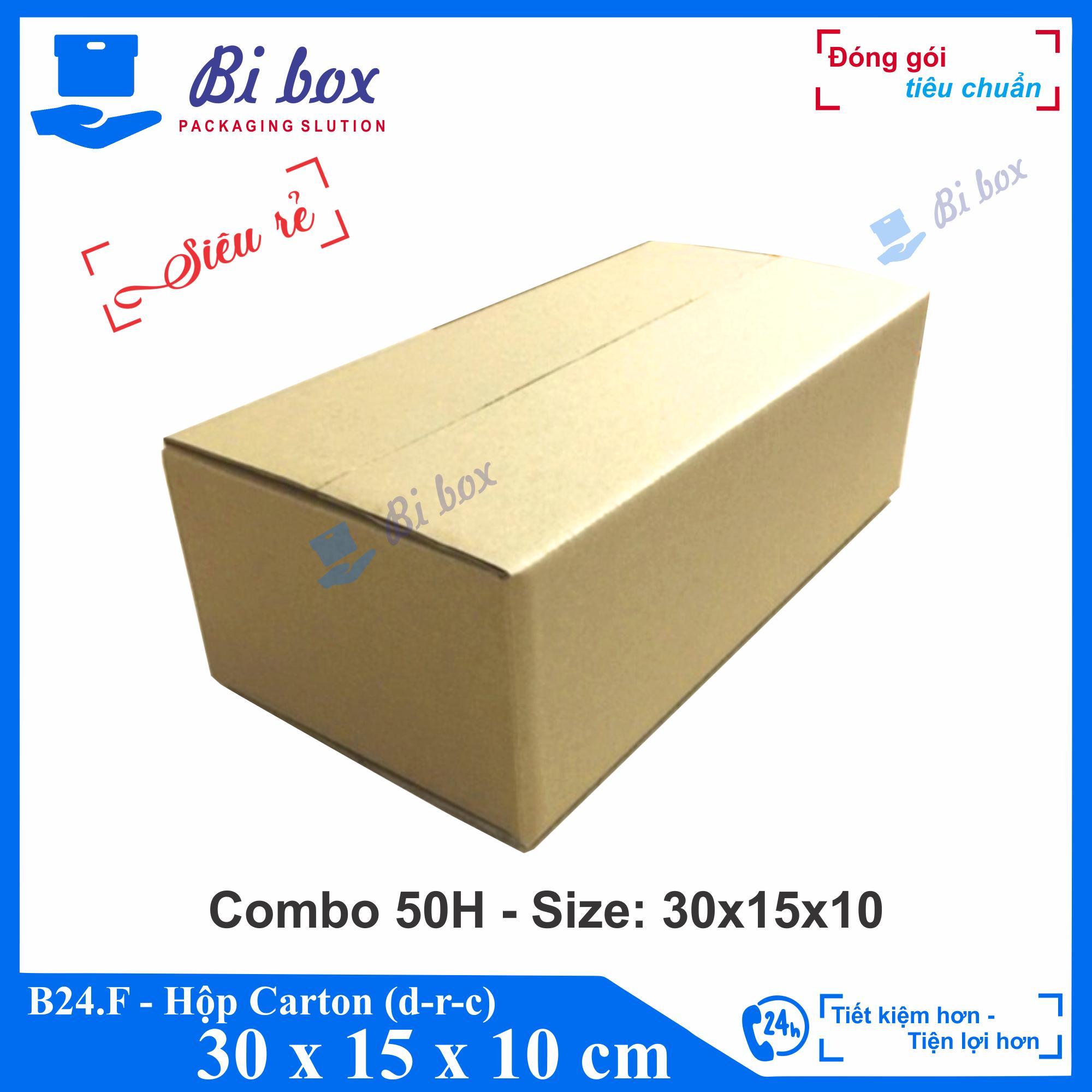 Combo 50 Thùng carton 30x15x10 cm - Thùng carton giá rẻ