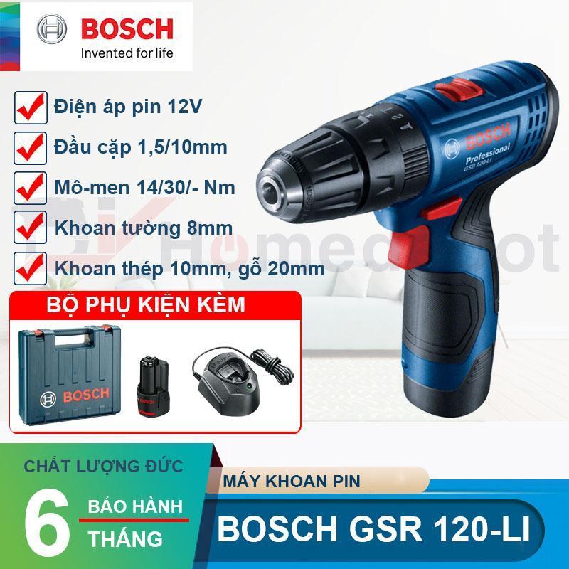 Máy khoan vặn vít dùng pin 12V Bosch GSB 120-LI Professional
