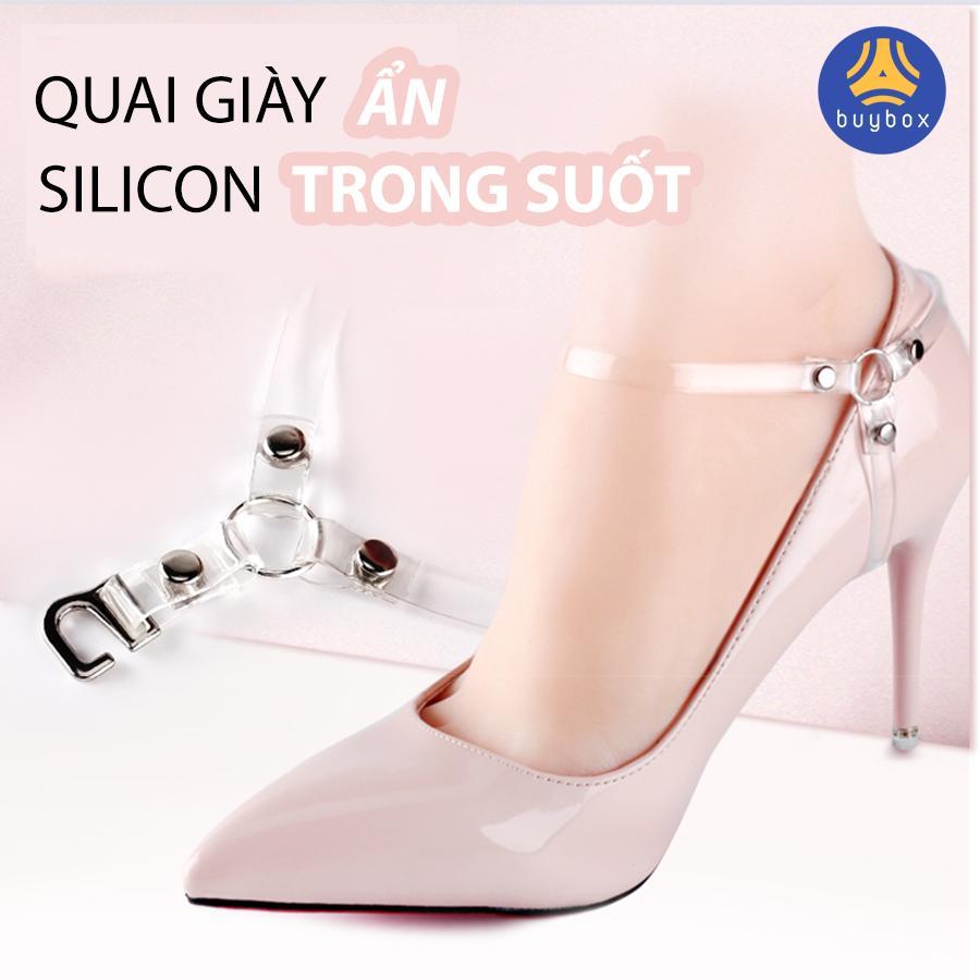 Quai giày cao gót chữ Y, quai giày ẩn silicon trong suốt hỗ trợ mang giày đế cao dễ đi - PK51