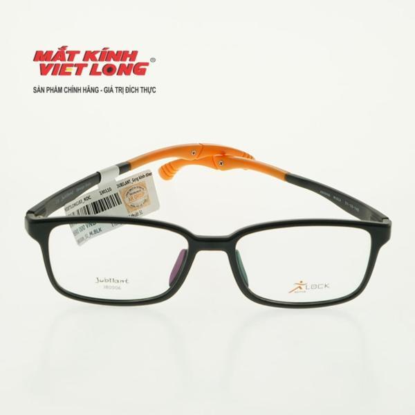 Giá bán GỌNG KÍNH JUBILANT J80006-M.BLK 51-18 (Gọng nhựa đen mờ, càng pha cam)