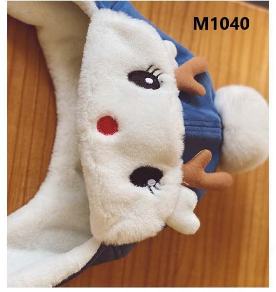 Mũ Lông Tuần Lộc 2in1 Cho Bé Trai, Bé Gái - Mũ Giữ Ấm Tai Bằng Nhung Lông Thiết Kế Hình Tuần Lộc Giáng Sinh Dễ Thương Dành Cho Trẻ Nhỏ