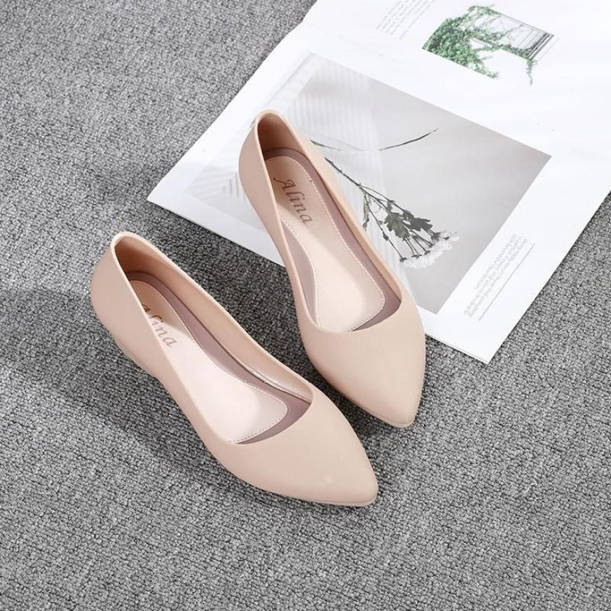 Giày búp bê giày công sở nhựa dẻo đi mưa chống nước , chống trơn trượt size 36 đến 40 (form nhỏ đặt tăng 1 size) giá rẻ