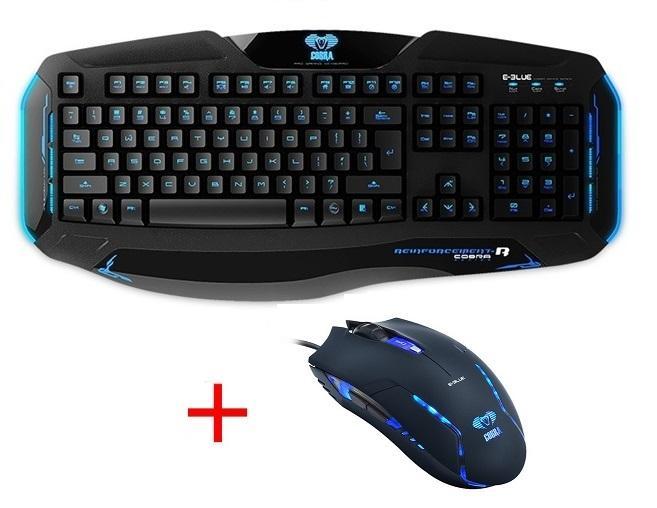 Chuột máy tính có dây, bán chuột game, các loại chuột máy tính - Combo bàn phím chuột E-Blue Cobra EKM801 cao cấp, Sản phẩm thịnh hành hiện nay