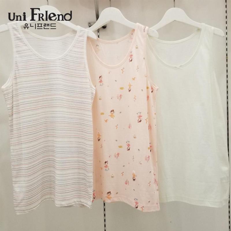 Nơi bán Set 3 áo mặc nhà bé gái Unifriend thun họa tiết hoạt hình U8SSAT02