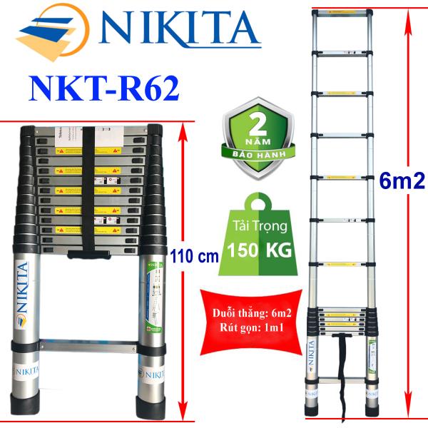 Thang nhôm rút đơn 6m2 Nikita NKT-R62