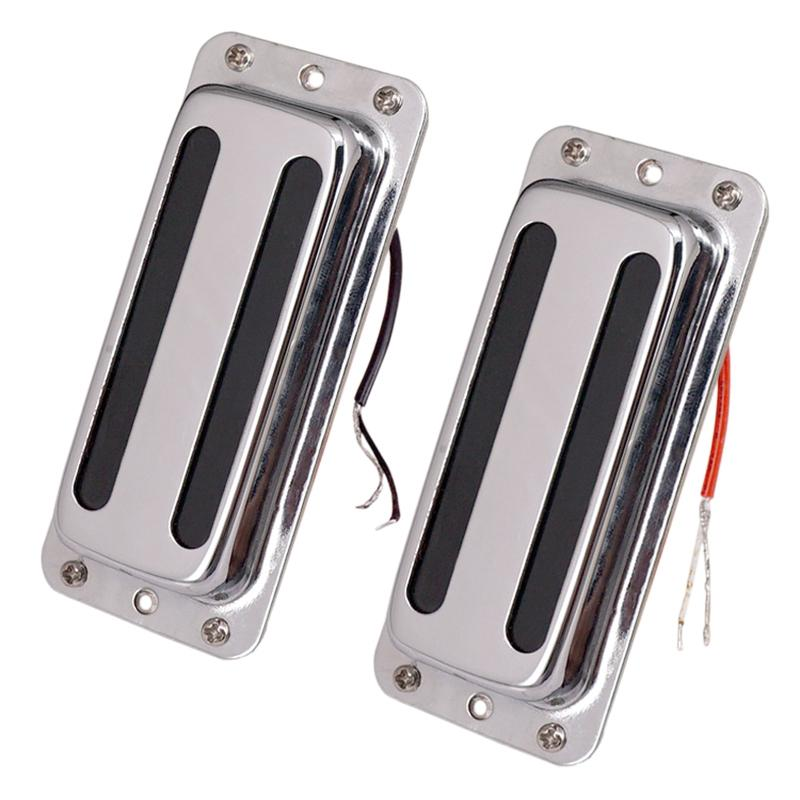 2Pcs Metal Pickups Double Coil Bridge Neck Humbucker Pickups for Electric Guitar Accessories
