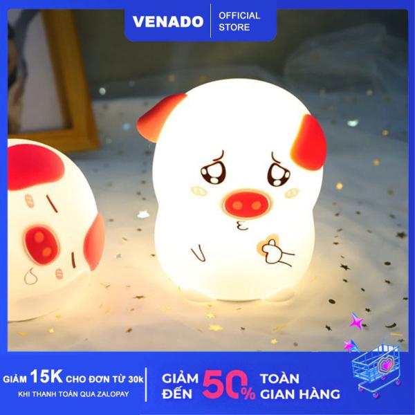 Bảng giá Đèn ngủ Silicone cảm biến đổi màu hình Heo Thả Tim, Heo Nháy Mắt cực đáng yêu Có loại điều khiển từ xa - Venado