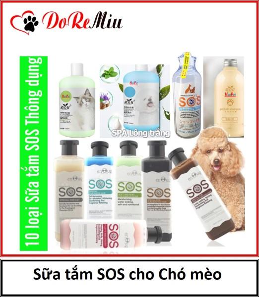 Doremiu- Sữa Tắm chó mèo SOS cao cấp dành cho thú cưng (Shop gọi tư vấn màu)  Mượt lông thơm lâu diệt ve rận.
