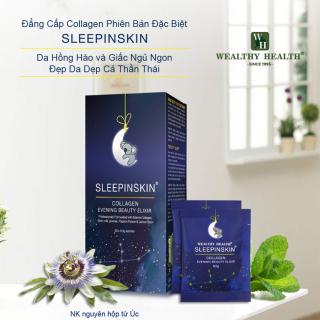 Collagen Uống Tác Động Kép Sleepinskin -Đẹp Da Và Ngủ Ngon-Hàng Chính Hãng Của Úc (Combo 10 gói) thumbnail