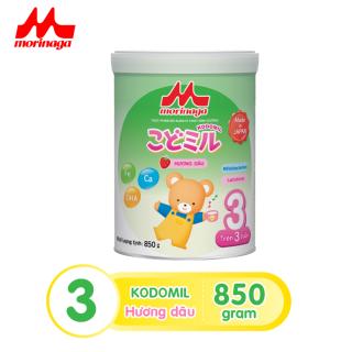 Sữa Morinaga Số 3 Kodomil Cho Bé Từ 3 Tuổi 850gr - Hương dâu Date T02 2022 ( tách đai Clearance ) thumbnail