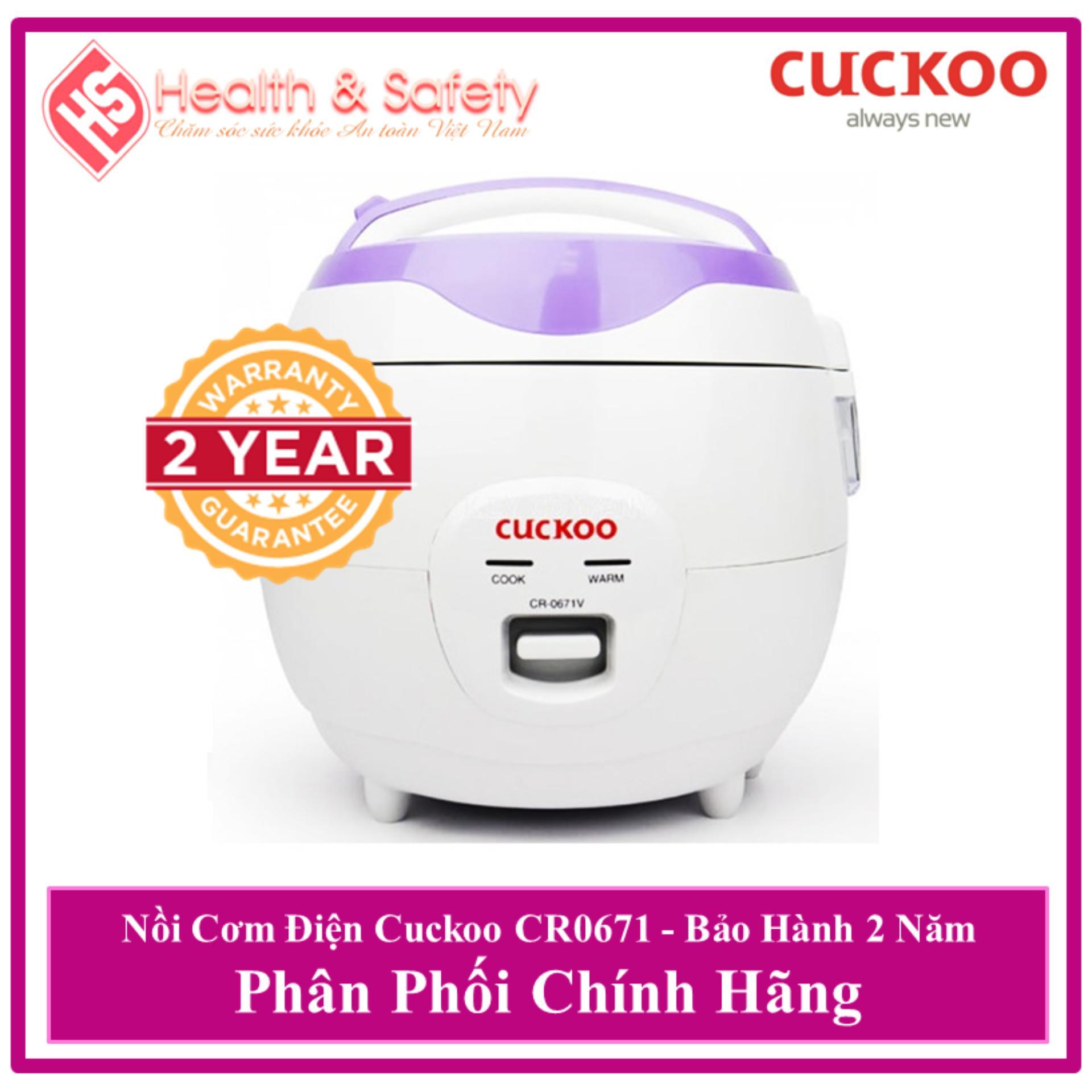 HÀNG CHÍNH HÃNG Nồi cơm điện Cuckoo Cao Cấp CR-0671V 1.0 lít - Bảo Hành 24 Tháng
