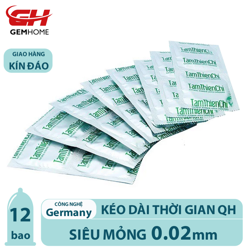 12 Bao Cao Su Tâm Thiện Chí Guardian, nhiều gel bôi trơn, bcs siêu mỏng tận hưởng trọn cảm giác GEMHOME
