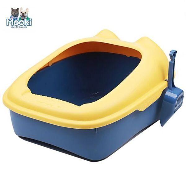 Khay vệ sinh cho chó, khay vệ sinh cho mèo tặng kèm xẻng xúc, hộp vệ sinh Mooki Pet