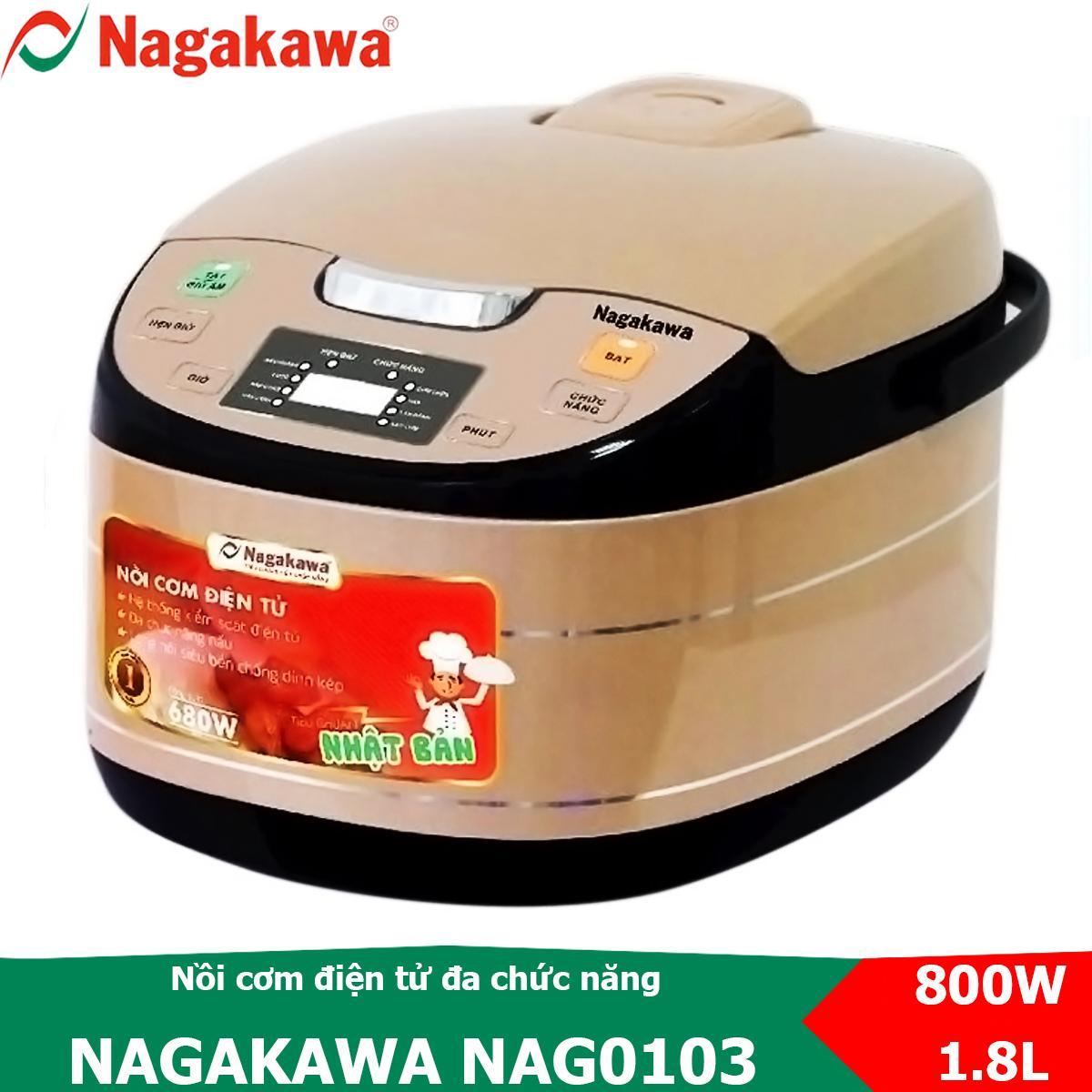 Mã Khuyến Mại tại Lazada cho Nồi Cơm điện Tử 1.8L Nagakawa NAG0103 đa Chức Năng Nấu Và Chế độ Giữ ấm Cơm